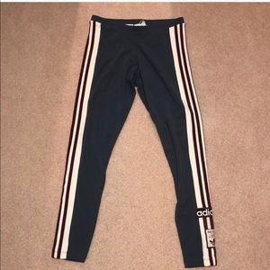 NWT Rare Adidas 3 Stripe Leggings